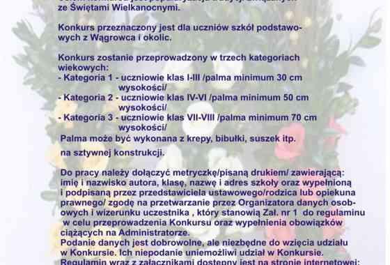 """XVII KONKURS PLASTYCZNY NA """"PALMĘ WIELKANOCNĄ"""""""